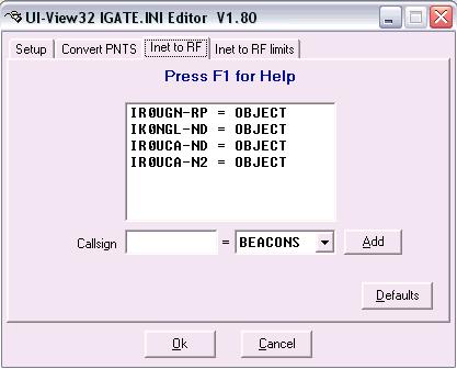 Utilizzo della funzione QSY APRS per la ricerca dei nodi WIRES-X